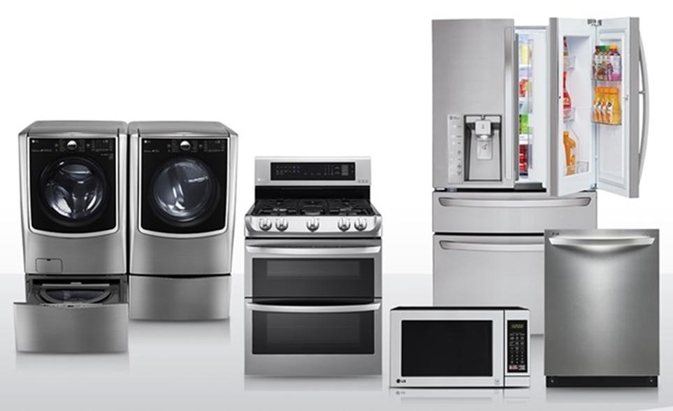 수백 개의 부품을 모듈화해 제조 혁신을 달성하고 있는 LG전자 가전제품