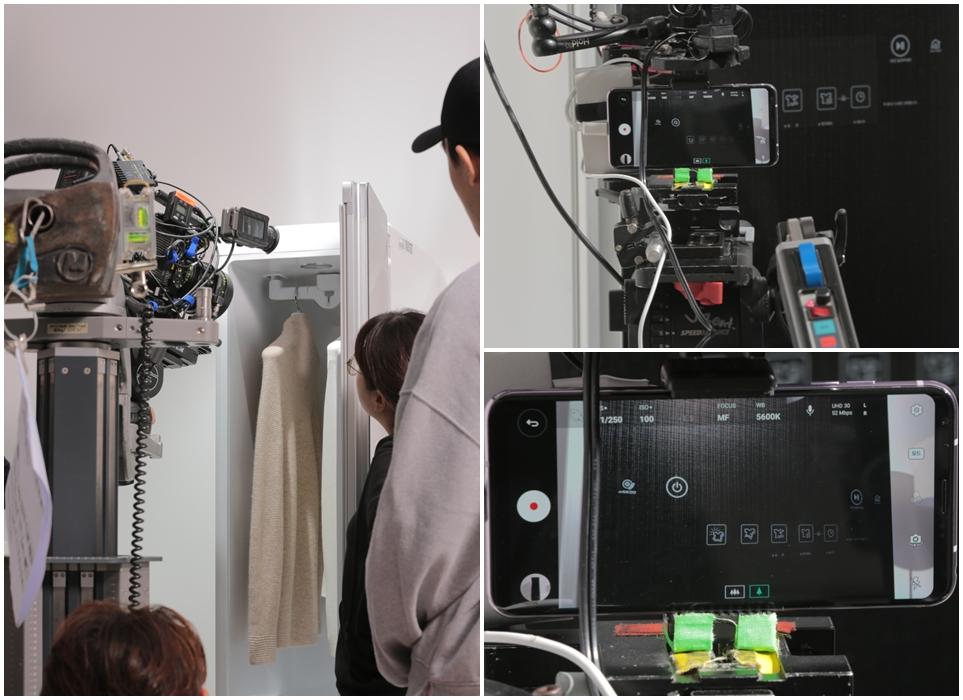'LG V30' X 'LG 트롬 스타일러' TV CF 제작 현장