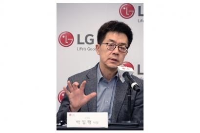 LG전자 CTO 박일평 사장이 현지시간 9일 美 라스베이거스에서 기자간담회를 열고 인공지능 분야를 선도하기 위한 LG전자의 기술전략에 대해 밝혔다.