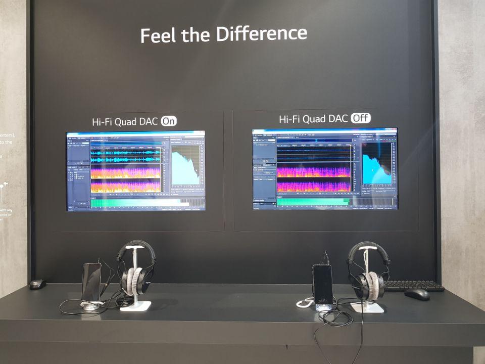 LG V30SThinQ의 Hi-Fi 쿼드 DAC 제공