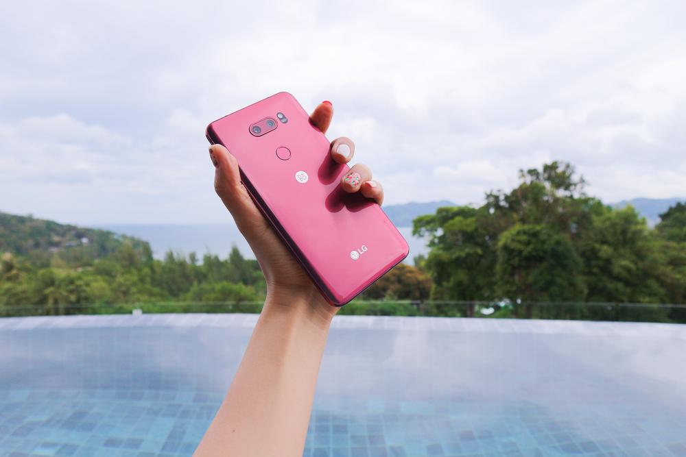 LG V30 라즈베리 로즈