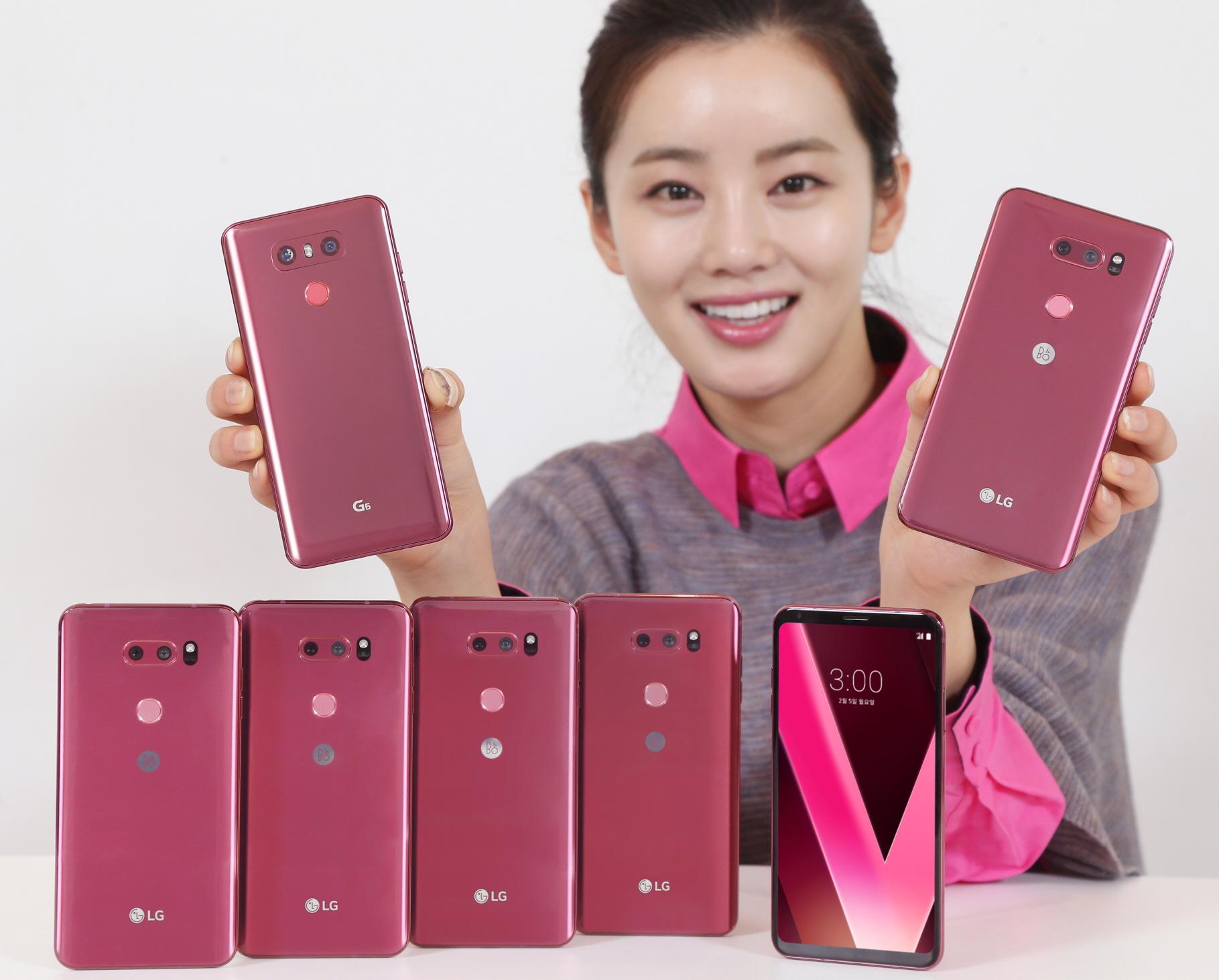 LG전자가 최근 새로운 스마트폰 색상으로 선보인 '라즈베리 로즈'