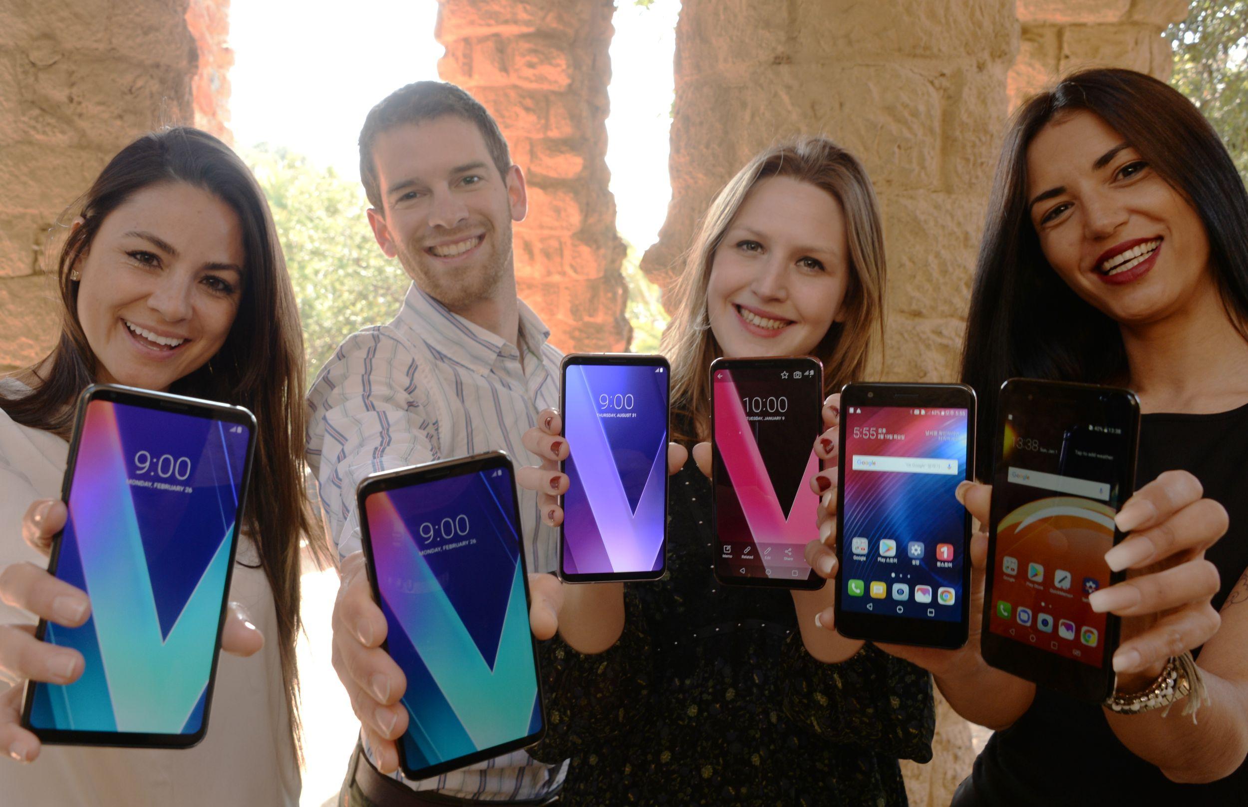 MWC 2018에 참가하는 LG 스마트폰