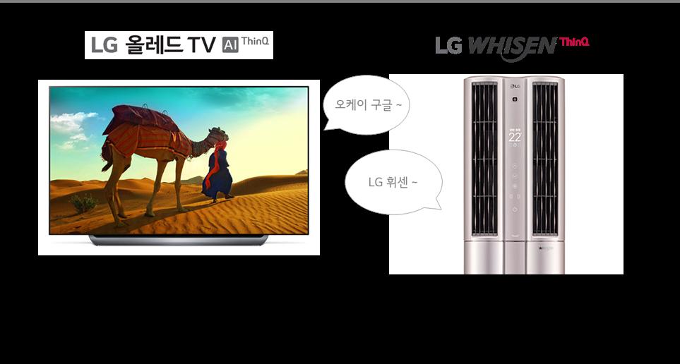 LG 올레드 TV AI ThinQ와 LG 휘센 ThinQ