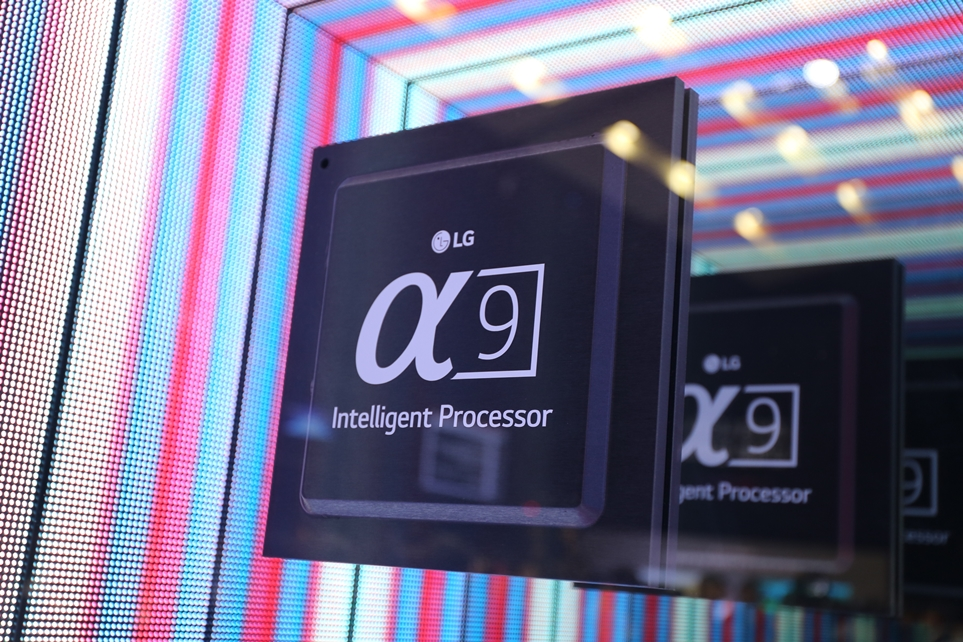 LG올레드TV AIThinQ에 적용한 인공지능 화질 엔진 '알파9'