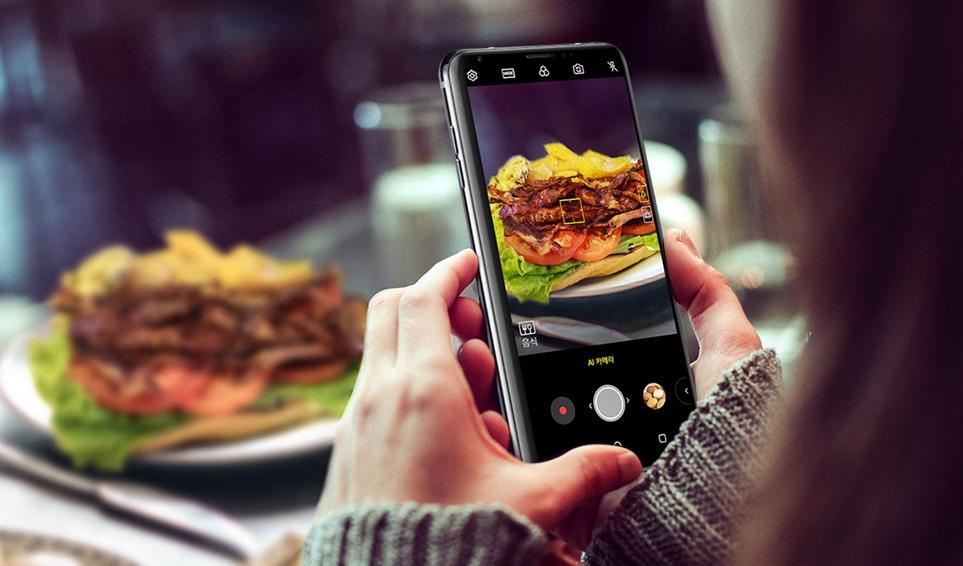 LG V30SThinQ의 'AI 카메라'와 'Q렌즈'