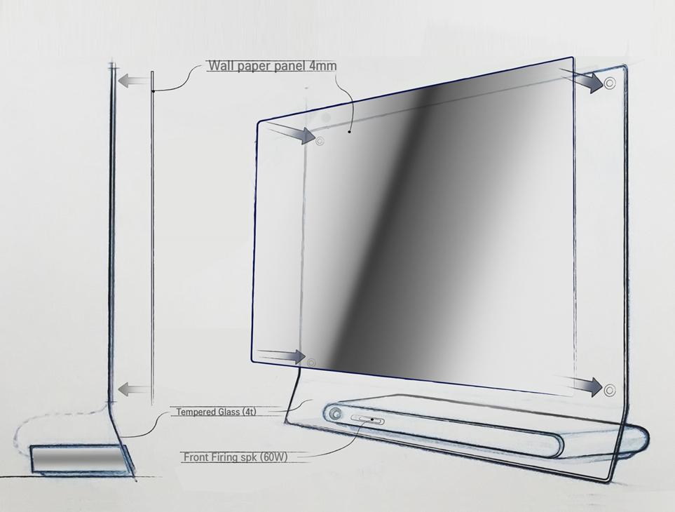 LG SIGNATURE 올레드 TV W 스케치