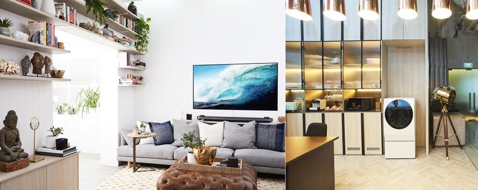 글로벌 유명 디자이너들이 'LG 시그니처' 제품으로 본인들의 집 인테리어를 연출한 모습