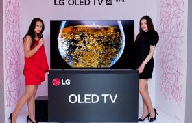 LG전자가 16일(현지시간) 미국을 시작으로 유럽, 중남미, 아시아 등 주요 국가에서 독자 인공지능 플랫폼인 '딥씽큐(DeepThinQ)'를 적용한 'LG 올레드 TV AI ThinQ(씽큐)' 판매에 나선다. LG전자는 올해 250만대로 대폭 확대될 것으로 예상되는 올레드 TV 시장에서 인공지능을 앞세워 리더십을 이어갈 계획이다. 폴란드 바르샤바에서 열린 'LG 올레드 TV' 신제품 발표회에서 모델들이 'LG 올레드 TV'를 소개하고 있다.