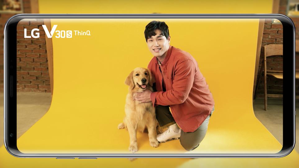 'LG V30SThinQ' 인공지능 사진관 TV광고 장면