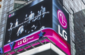 LG G7 ThinQ, 뉴욕 타임스스퀘어에서 방탄소년단 데뷔 5주년 축하 영상 상영