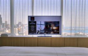 LG 올레드 TV, 美 고급 호텔 입성