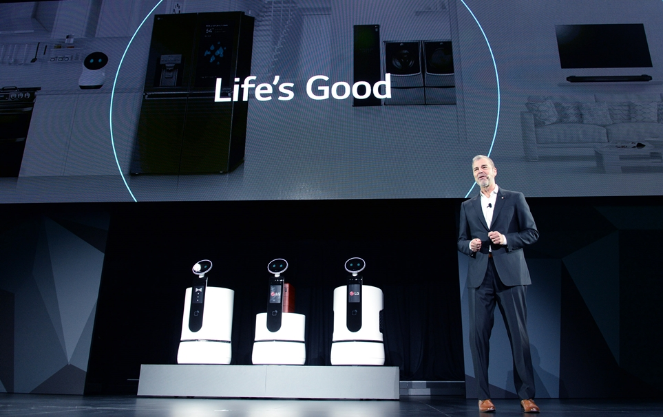 'CES 2018' LG 프레스 컨퍼런스에서 공개된 'LG 클로이' 배송로봇 3종
