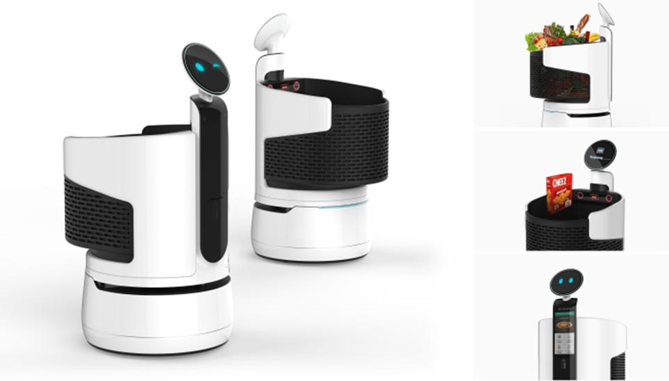LG 클로이' 쇼핑카트 로봇