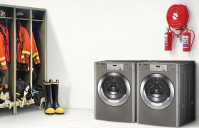 LG전자와 인천소방본부는 11일 인천시 주안동에 위치한 인천남부소방서에서 방화복 세탁기 기증식을 가졌다. LG전자가 기증한 방화복 세탁기는 총 20대로, LG전자는 방화복 세탁기가 소방관들의 근무환경을 높여줄 것으로 기대하고 있다.