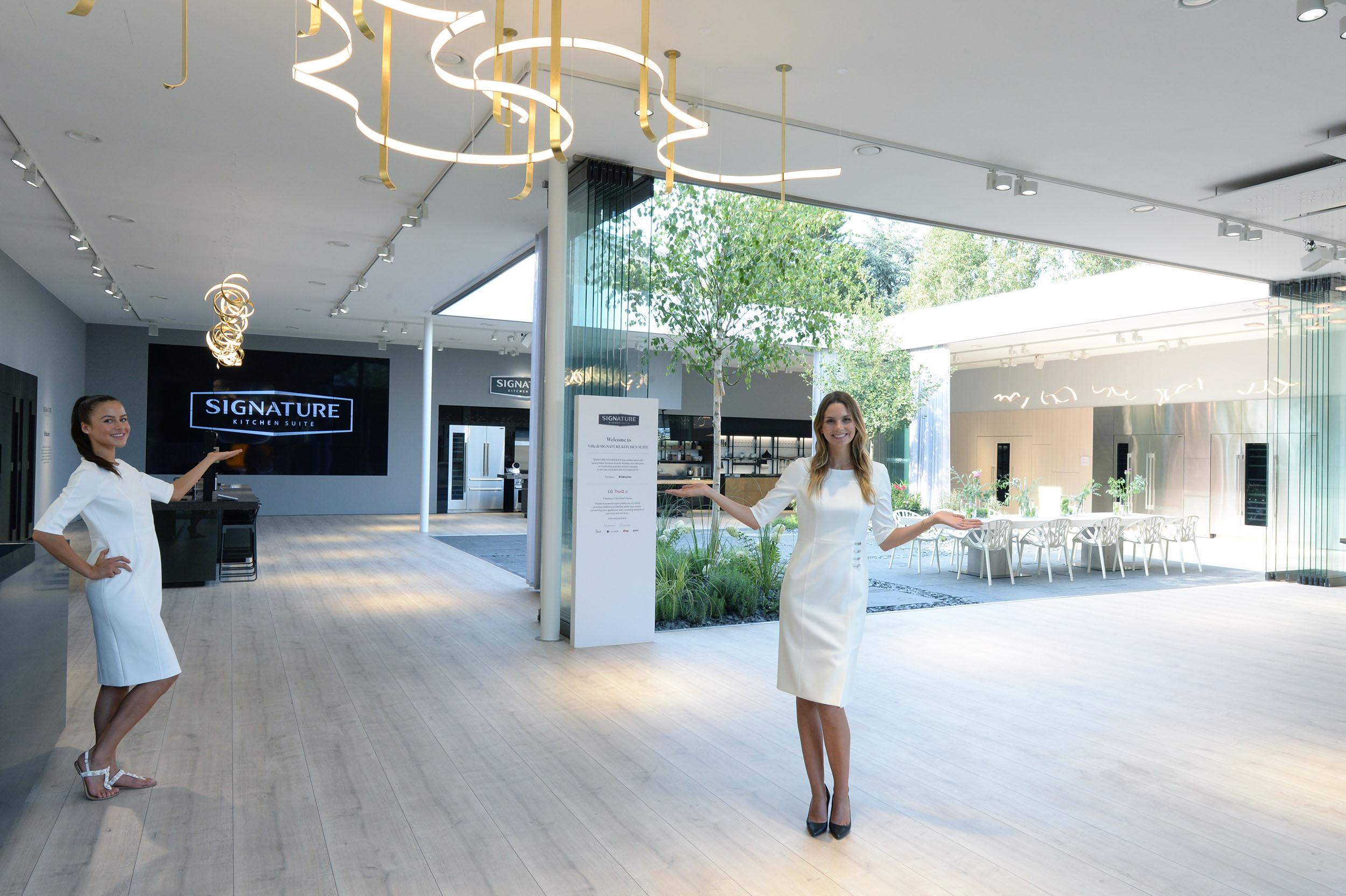 LG전자가 IFA 2018에서 메세 베를린 야외정원에 900제곱미터 규모의 시그니처 키친 스위트 전용 전시관을 마련했다