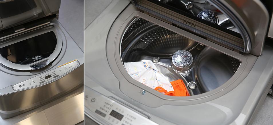 기존 '트롬 드럼 세탁기'와 '트롬 건조기'에도 설치할 수 있는 '미니워시'