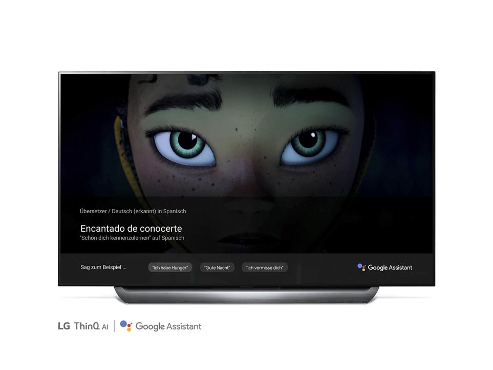 구글 어시스턴트를 탑재한 LG 올레드 TV AI 씽큐 제품 이미지