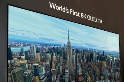 8K 올레드 TV 세계 최초 공개