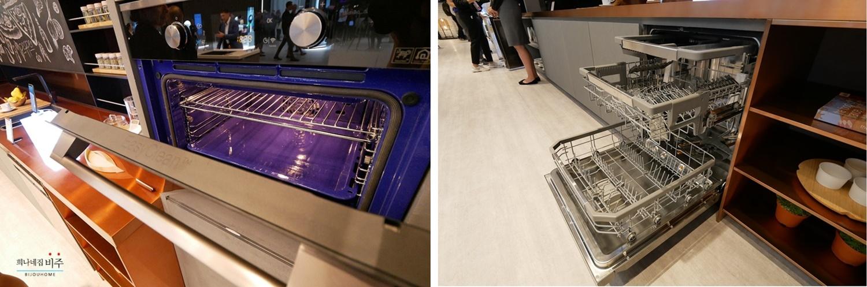 'IFA 2018' 시그니처 키친 스위트 전용 전시관에 전시된 오븐과 식기 세척기