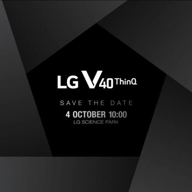 전략 스마트폰『LG V40 <sup>ThinQ</sup>』 공개 행사
