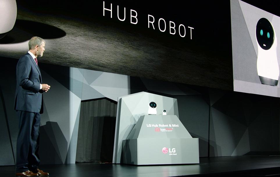 'CES 2017′ LG 프레스 컨퍼런스에서 처음 공개한 'LG 클로이 홈' 로봇