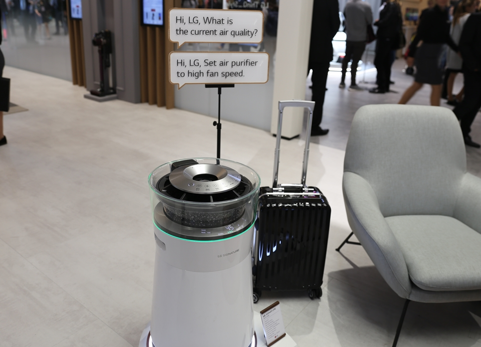 'IFA 2018' LG 씽큐 존 - Style, LG 시그니처 공기청정기