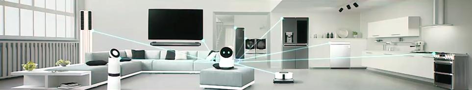 'CES 2018' LG 프레스 컨퍼런스에서 선보인 'LG 클로이 홈' 로봇으로 가전들을 컨트롤하는 모습