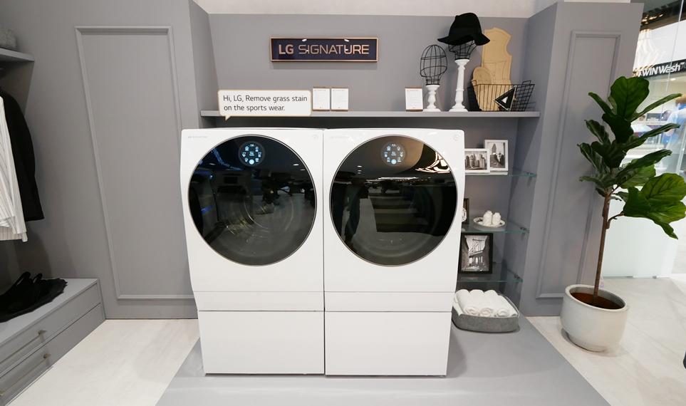'IFA 2018' LG 시그니처 세탁기와 건조기