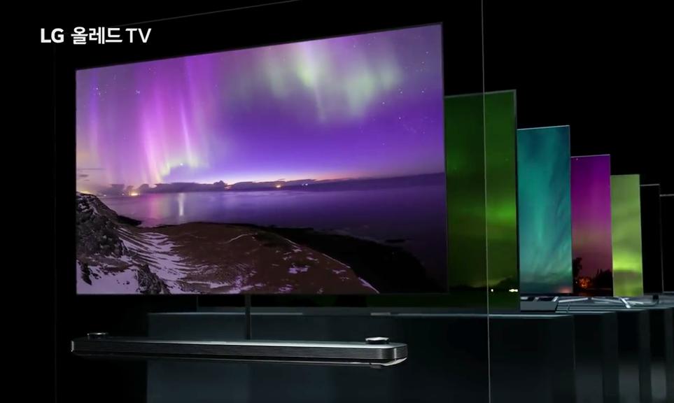 올레드 TV 판매에 뛰어든 업체들의 제품