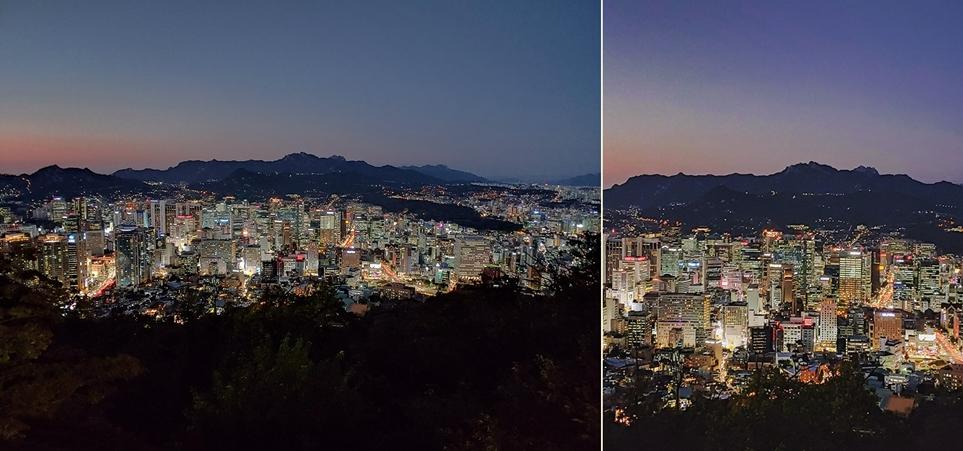 일반, 망원 카메라 촬영 이미지