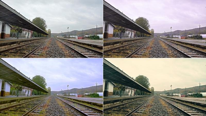 AI 카메라가 추천해준 풍경 모드로 찍은 사진