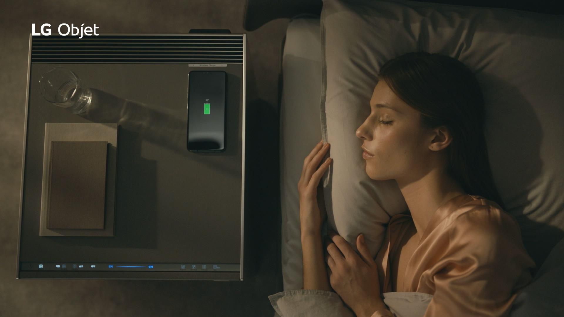 LG 오브제 제품을 상세하게 소개하는 온라인 광고
