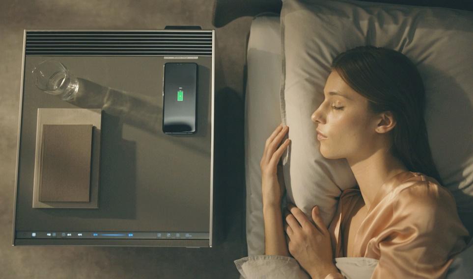 LG Objet 가습 공기청정기 핸드폰 충전 기능