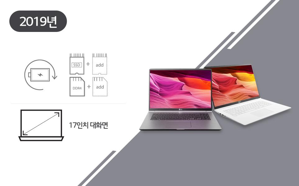 2019년 출시한 LG 그램 17