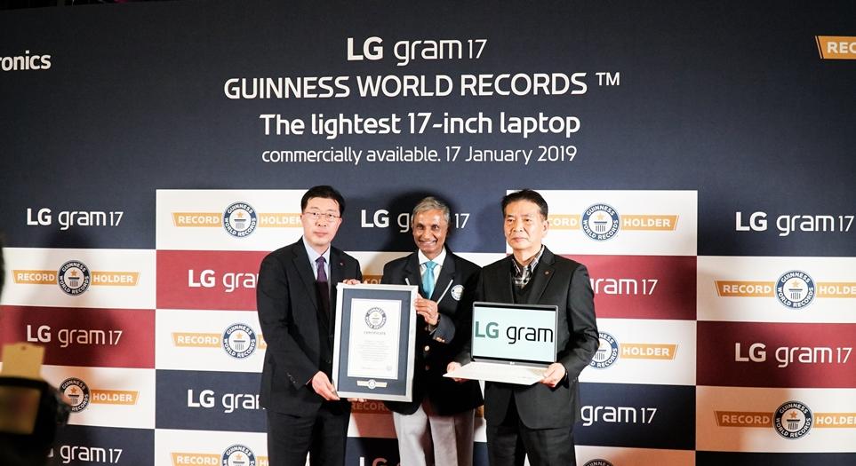 기네스북에 오른 LG 그램 17