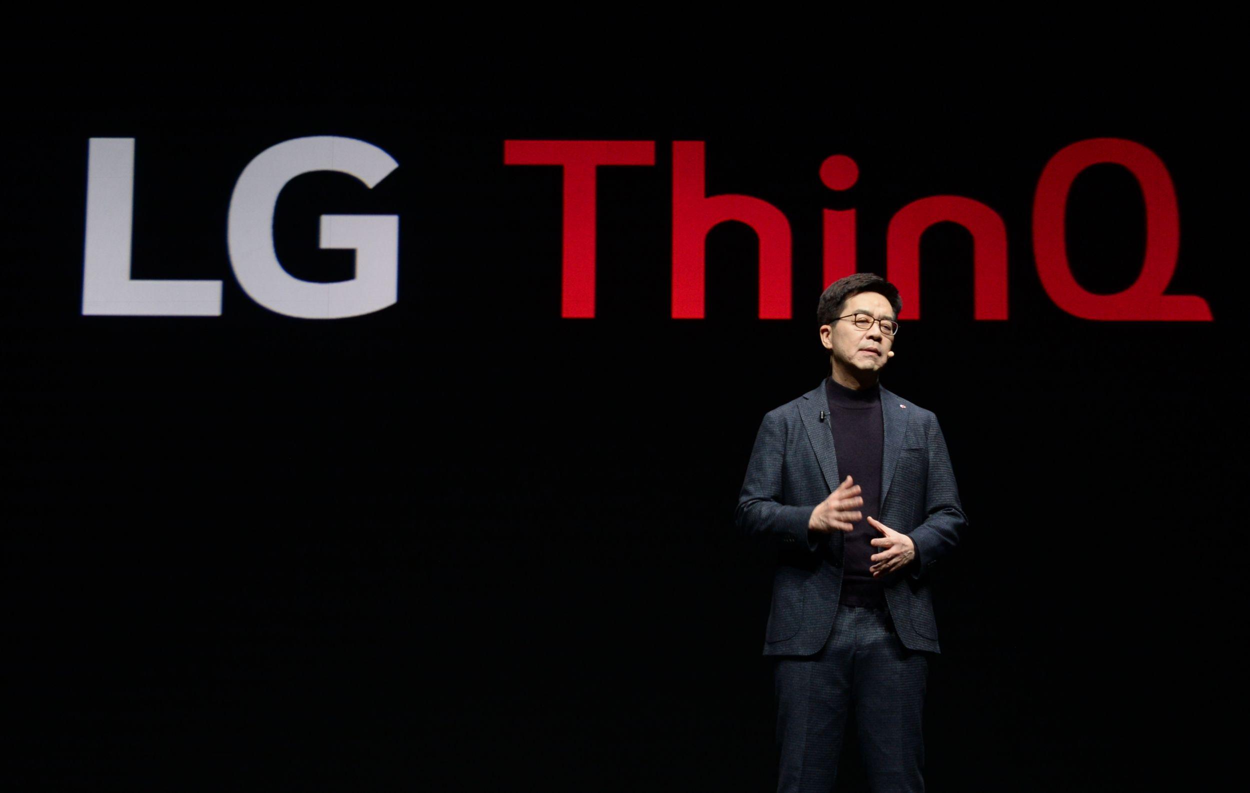 LG전자 CTO(최고기술책임자) 박일평(朴日平) 사장이 현지시간 7일 美 라스베이거스 파크MGM호텔에서 '고객의 더 나은 삶을 위한 인공지능(AI for an Even Better Life)'을 주제로 'CES 2019' 개막 기조연설을 진행했다.