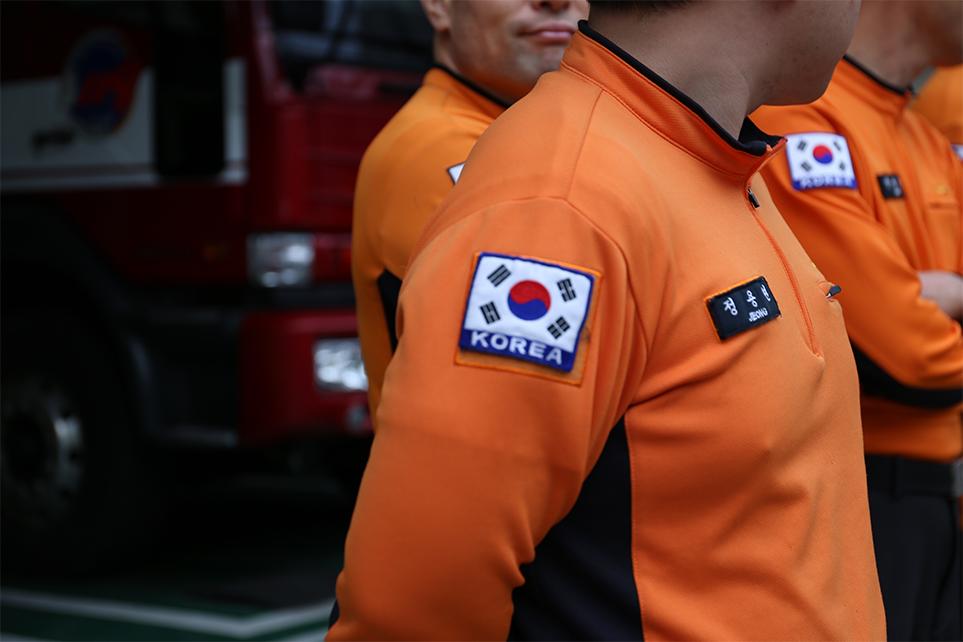 강동소방서 소방대원들