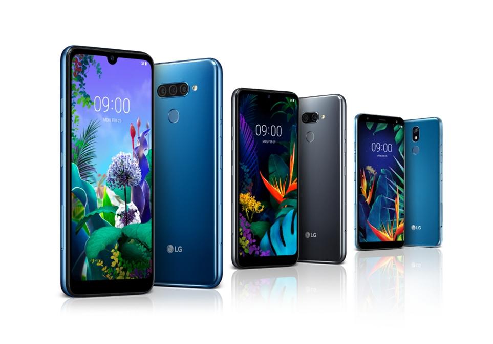 왼쪽부터 LG Q60, LG K50, LG K40
