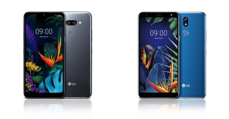 LG K50(왼쪽)과 LG K40(오른쪽)