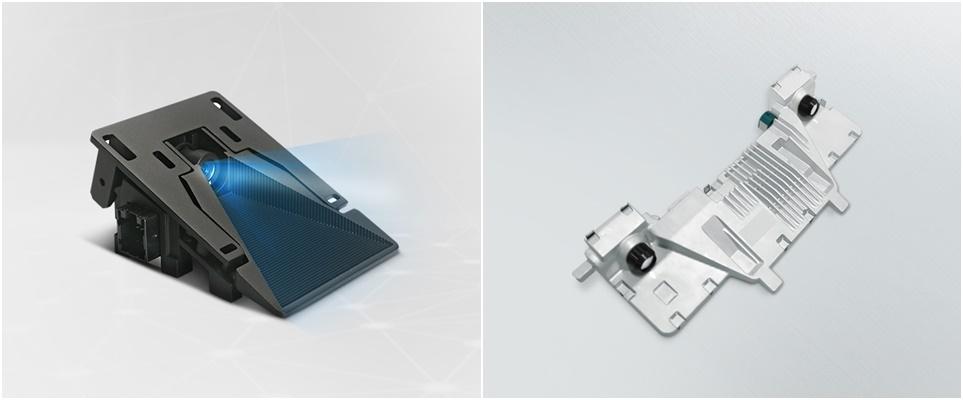 LG전자가 개발하는 모노 카메라 센서 모듈(왼쪽)과 스테레오 카메라 센서 모듈(오른쪽)