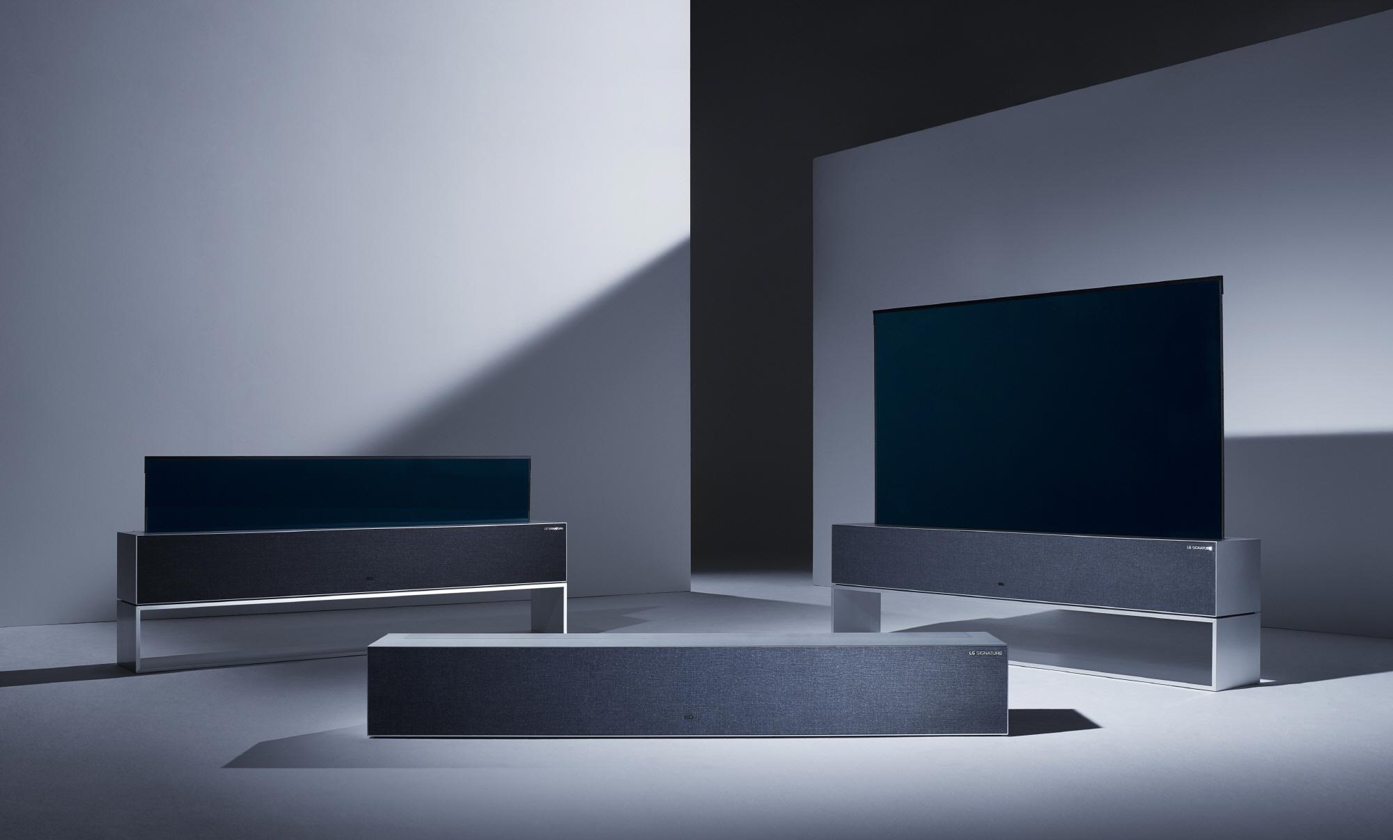 세계 3대 디자인상인 '레드닷 디자인 어워드(Red Dot Design Award)'에서 최고상(Best of the Best)을 받은 LG 시그니처 올레드 TV R