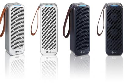 LG전자가 22일 휴대용 공기청정기 'LG 퓨리케어 미니 공기청정기'를 출시한다. 사진은 'LG 퓨리케어 미니 공기청정기'의 화이트, 블랙 색상 제품 사진