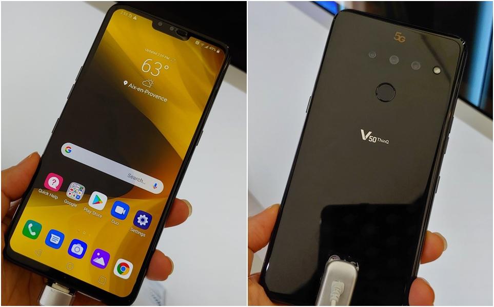 LG V50 ThinQ 5G 전면과 후면