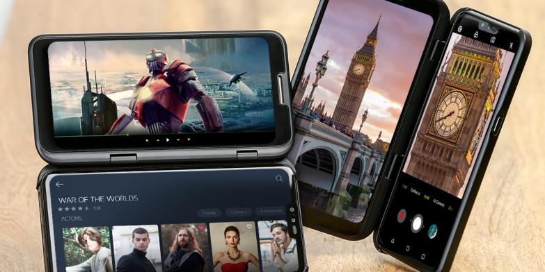 LG전자가 오는 19일 이동통신 3사와 오픈마켓, LG베스트샵 등 자급제 채널을 통해 LG V50 ThinQ를 국내 출시한다. LG전자는 5월 말까지 LG V50 ThinQ를 구매하는 고객에게는 전용 액세서리인 LG 듀얼 스크린을 무상 증정한다. LG V50 ThinQ 출고가는 119만 9,000원.