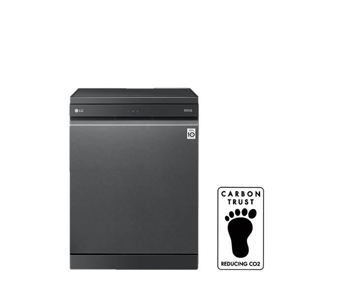 LG전자가 지난 달 출시한 LG 디오스 식기세척기(모델명: DFB22M, DFB22S, DFB41P)가 최근 영국의 대표적인 친환경 인증기관인 카본 트러스트(Carbon Trust)로부터 탄소절감(Carbon Reducing)에 대한 탄소발자국(Carbon Footprint) 인증을 받았다. 카본 트러스트로부터 식기세척기에 대한 탄소절감 인증을 받은 것은 LG전자가 처음이다. 사진은 LG 디오스 식기세척기와 탄소발자국