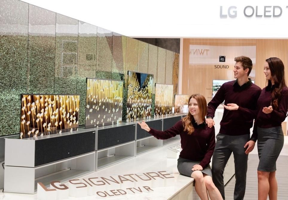 세계 최초의 롤러블 TV 'LG 시그니처 올레드 TV R'