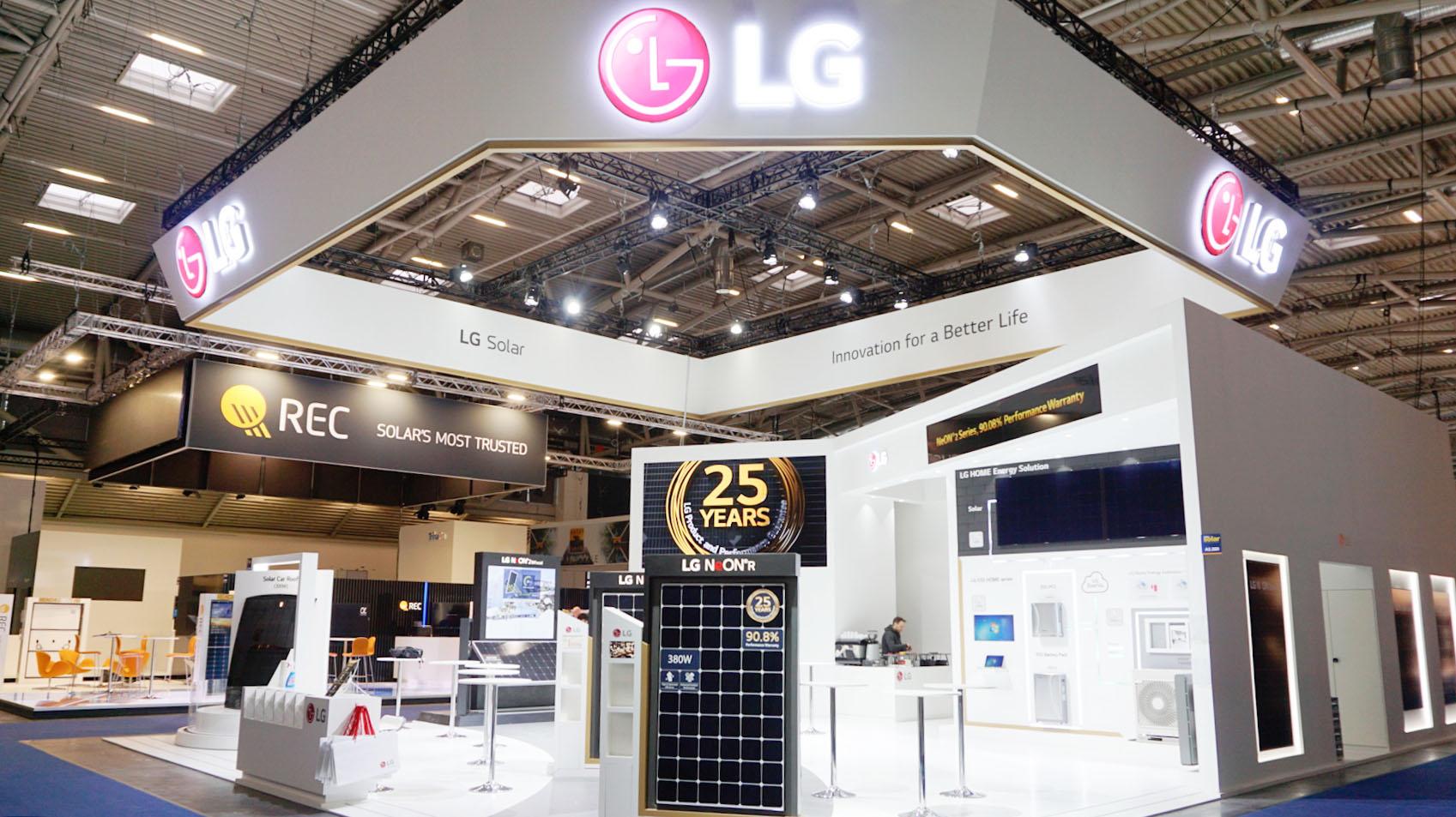 '인터솔라 2019'의 LG전자 부스 모습