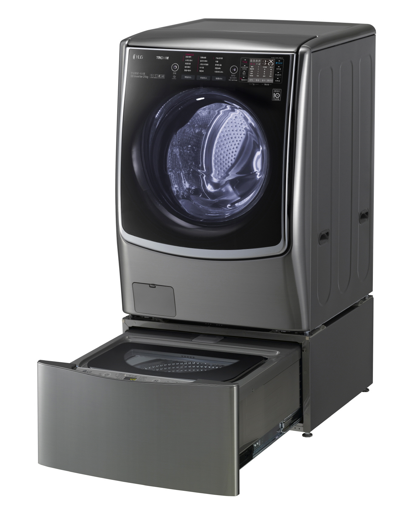 2015년 LG전자가 세계 최초로 드럼세탁기 하단에 통돌이세탁기를 결합해 새로운 세탁문화를 만든 '트롬 트윈워시'
