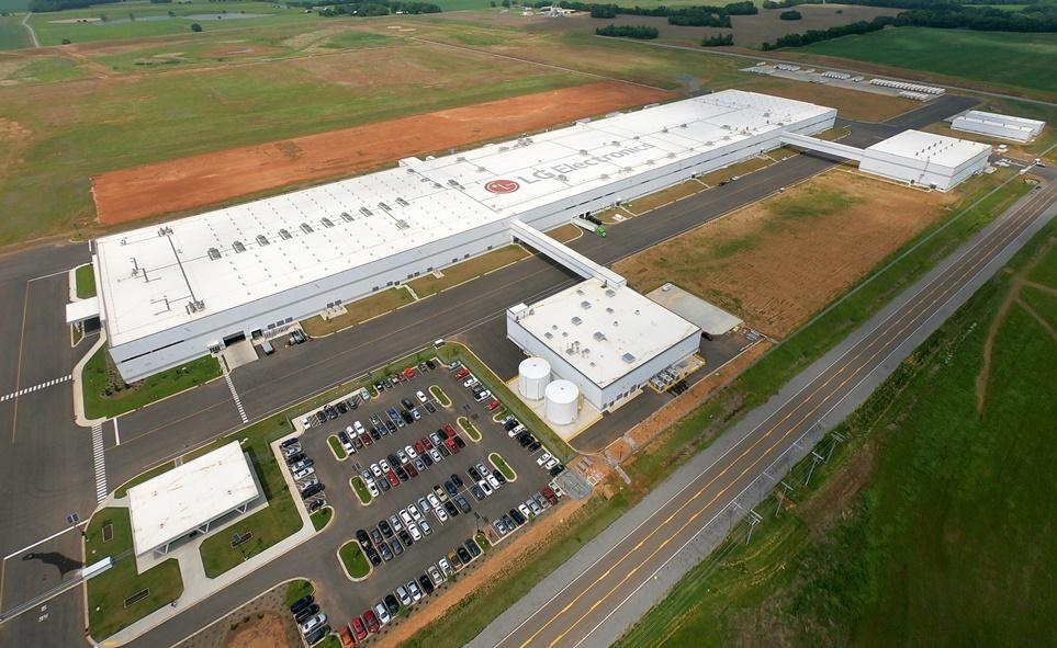 미국 테네시 주에 위치한 '지능형 자율공장'인 LG전자 세탁기 공장 전경
